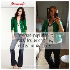 How Pinterest can help you get more out of your closet! Use the clothes you have to make great outfits!
