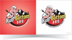 Martin's BBQ Concession Trailer Bold, Masculine Logo Design by r-toha