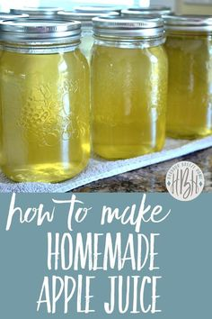 *Homemade Apple Juice* Wondering what to do with all those apples on your backyard tree Here s a great idea for you! this simple method and you ll have delicious canned apple juice to last throughout the year ~ no peeling required! Canning Apples, Canning Tips, Home Canning, Canning Recipes, Easy Canning, Canning Food Preservation, Preserving Food, Preserving Apples, Sweets