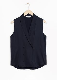 & Other Stories | Sleeveless Waistcoat Blouse