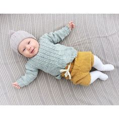 """Gro - aka - makes the most beautiful baby outfits with DROPS yarn Just take a look…"""" Knitting For Kids, Crochet For Kids, Knitting Projects, Baby Knitting, Knit Crochet, Crochet Hats, Reborn Babies, Beautiful Babies, Dinosaur Stuffed Animal"""