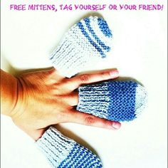 One of these baby mittens will be sent free this Friday. Just visit my instagram page and tag yourself! instagram.com/lovellanegra