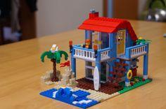 のんびり、のんびりね☆: LEGOったよ Lego Beach, Micro Lego, Lego Stuff, Lego Building, Lego Ideas, Legos, Candles, Lego, Candy