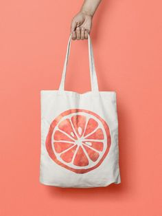 Orange Fruit Tote Bag Canvas Kawaii This bottle Tote bag is that universal product that everyone needs and uses. A book bag, a grocery bag, or just somewhere to throw in all of those little everyday items.When it comes to hobo hand bags it is the for Diy Tote Bag, Cute Tote Bags, Printed Tote Bags, Canvas Tote Bags, Canvas Totes, Fabric Bags, Market Bag, Cloth Bags, Large Bags