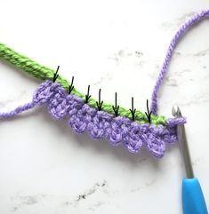 Crochet Butterfly Pattern, Crochet Leaf Patterns, Crochet Flower Tutorial, Crochet Leaves, Granny Square Crochet Pattern, Crochet Motif, Crochet Designs, Crochet Flowers, Crochet Stitches
