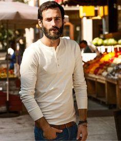 Macho Moda - Blog de Moda Masculina: Camiseta Henley Masculina, Pra Inspirar e Onde Encontrar