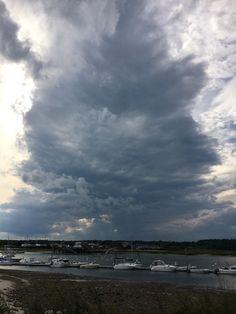Storm over Wells harbor Wells, Maine, Ocean, Clouds, Outdoor, Outdoors, Sea, Outdoor Games, Outdoor Living