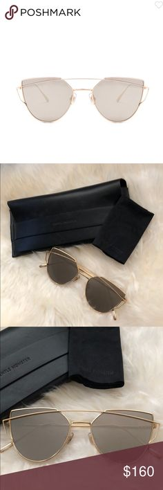 48ce8ac943d Gentle Monster Love Punch Sunnies Flat gold mirrored lens. Titanium frame.  Made in Korea