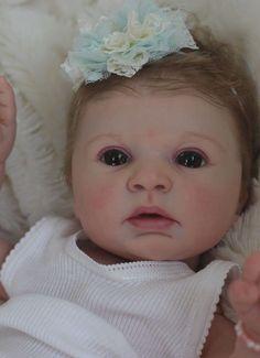 SweetiePieNursery Reborn Baby Girl PROTOTYPE Indra Awake by Reva Schick