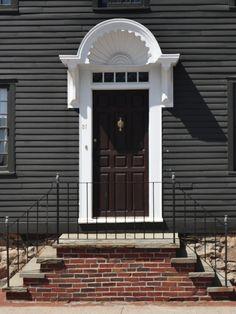 Newport Rhode Island Historic Door Detail, Scallop Shell Entry