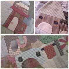 Plaid houses 5 - rêve de fil