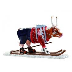 "Telemark, Norway - Cows on Parade 2006 - ""Ski Cow"" - 30 life size fiberglass cow statues"