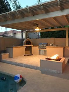 Wooden ovens and pizza ovens in the garden - the new trend in garden life. - Wooden ovens and pizza ovens in the garden – the new trend in garden life. The Renaissance What w - Outdoor Kitchen Patio, Pizza Oven Outdoor, Outdoor Kitchen Design, Outdoor Rooms, Rustic Outdoor Kitchens, Outdoor Cooking, Outdoor Living, Backyard Patio Designs, Backyard Landscaping