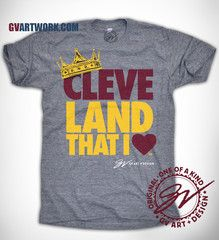 Cleveland That I Love Wine and Gold KING Crown shirt 2c20559c8