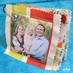 Ring of Memories - a sewn photo book for babies and toddlers (from Moda Bake Shop website). Detailed instructions on the website.