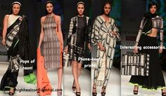 Saree - Extreme left and the suitcase-- extreme right! Love   WIFW A/W 2013: Masaba For Satya Paul