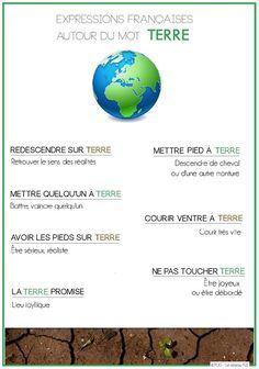 Expressions françaises autour du mot TERRE. https://www.facebook.com/PUG.collection.FLE