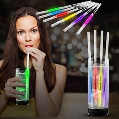 Glow Motion Straws Straws, Corporate Gifts, Art Supplies, Promotion, Glow, Drinkware, Beauty, Colors, Inspiration