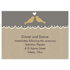 This charming reception card is the perfect complement to your outdoor or country wedding. Product Details: Reception Card Size: 4 x 3 Type: Wedding Reception Cards, Wedding Bells, Wedding Invitations, Rustic Charm, Card Sizes, Save The Date, Dates, Wedding Invitation Cards, Date