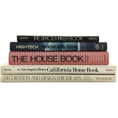 Interior & Home Design Book Collection - Set of 5 ($125) ❤ liked on Polyvore featuring books, fillers and art books