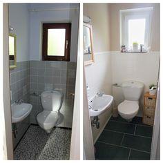 Family, Bakery & More : Vorher/Nachher Gäste WC....unser Traum vom Haus......