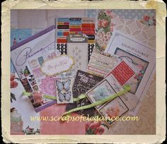 Scraps of Elegance ~ Create Something Beautiful Today - Our October kit - Dreams of You, We Have A Winner, Paper Crafts, Diy Crafts, Something Beautiful, Darkness, Dreaming Of You, Competition, October, Scrapbooking