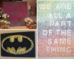 Cool DIY Art Ideas and Inspiration for Teen Bedroom | String Art by DIY Ready at http://diyready.com/diy-projects-for-teens-bedroom/