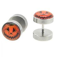 2 Earrings Fakeplug Fake Tunnel Piercing to Screw Pumkin Halloween-crazy and new designs!!! Lavida http://www.amazon.co.uk/dp/B00H8D90XA/ref=cm_sw_r_pi_dp_BfOvub1S2XFTK