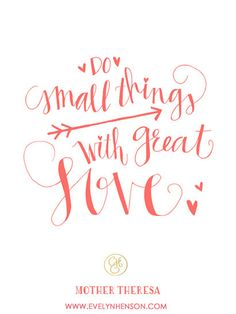 Small Things with Great Love Print Limited Edition by EvelynHenson