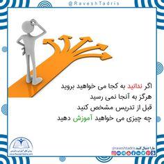 اگر ندانید به کجا می خواهید بروید هرگز به آنجا نمی رسید قبل از تدریس مشخص کنید چه چیزی می خواهید آموزش دهید  @RaveshTadris #روش_تدریس #محمد_حافظی_نژاد