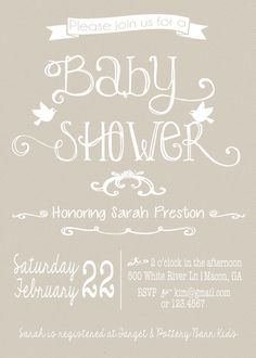 Kraft Paper, Baby Shower, Burlap Paper, Recycled Paper, Baby Love, Hearts, Baby  Shower Suites ,cheap Baby Shower Invitation, Its A Girl, Cute Baby U2026