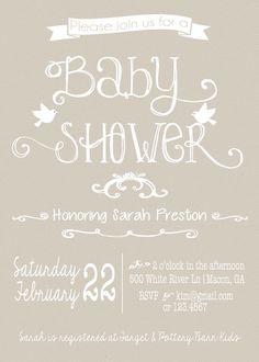 gender neutral baby shower invitation by