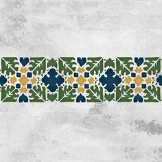 Moroccan Stencils   Fez Block Border Stencil   Royal Design Studio