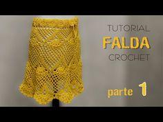 En este video tutorial tejemos una falda de mujer a ganchillo. Se puede hacer en diferentes talles. Utilizamos 250 grs. de hilo de algodón semigrueso y un cr...