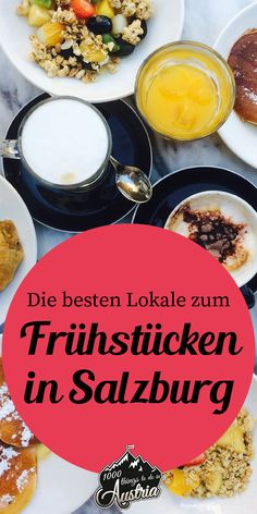 The best places to have breakfast in Salzburg # breakfast and brunch Our recommendations . Essen In Salzburg, Bangkok Thailand, Oahu, Cool Cafe, Best Places To Eat, Best Breakfast, Street Food, The Good Place, Innsbruck