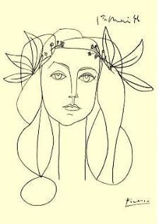 Pablo Picasso- Head of a Woman