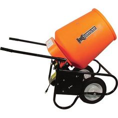 Kushlan Electric Portable Concrete Mixer with 3.5 Cubic Foot DRUM