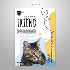 Happy Vet, Poster Presentation Template, Pet Websites, Pet Branding, Business Poster, Minimal Web Design, Adoption Day, Animal Posters, Animal Projects