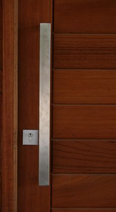 Front Entry Door Gainsborough Architectural Series Stainless Steel Oblong  Handle. #doorhandles