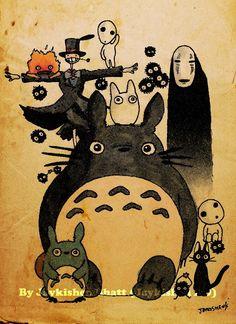 Retro Style Studio Ghibli Hayao Miyazaki Fan Poster Print. Cute tattoo idea