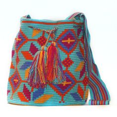 Discover Home, Art, Men's, Women's & Tech Accessories Tapestry Bag, Tapestry Crochet, Tribal Patterns, Bago, Crochet Projects, Women's Accessories, Bucket Bag, Purses And Bags, Creative