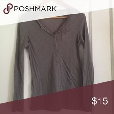 Gap long sleeve Henley This lightweight shirt is great for layering! GAP Tops