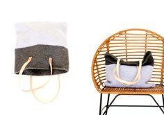 Crochet + Leather Basic Tote – Free Pattern