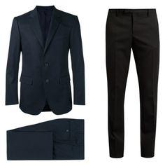 """BASIC"" by laura-itzeel-pnaran on Polyvore featuring Yves Saint Laurent, Lanvin, men's fashion y menswear"