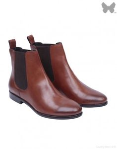 CO/AT Leather Chelsea Boot - Brown #chelseaboot