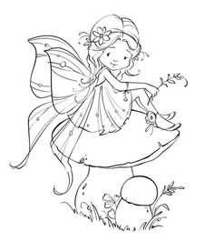 Free for personal use Baby Fairy Drawing of your choice Fairy Coloring Pages, Adult Coloring Pages, Coloring Books, Digital Stamps Free, Fairy Drawings, Whimsy Stamps, Baby Fairy, Colorful Pictures, Sketches