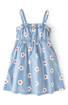Mini Boden Ruffled Sun Dress (Toddler Girls, Little Girls & Big Girls) available at #Nordstrom