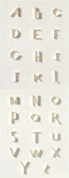 """revistaabcdesign: """" Um lindo alfabeto - a beautiful alphabet - designed pela Sonya Dyakova for Phaidon in roquehorror: """" TIPOGRAFIA É ISSO… """" """" Cool Typography, Typography Letters, Graphic Design Typography, Typography Images, Paper Design, Design Art, Home Design, Interior Design, Design Alphabet"""