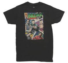 54f247c0bd2 Ripple Junction Men's The Big Bang Theory Comic Book T-Shirt (Black)