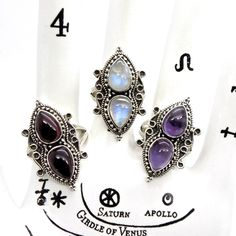 Image of Sterling Silver Athena Rings